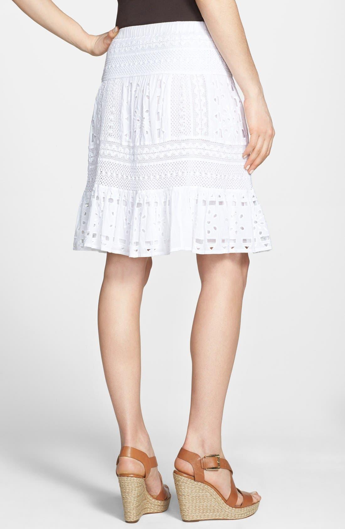 Alternate Image 2  - MICHAEL Michael Kors Eyelet Skirt