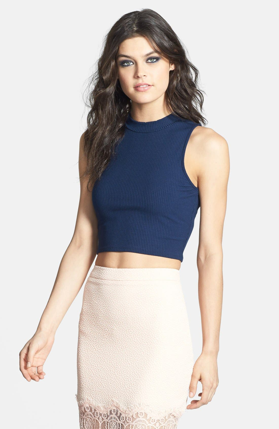 Main Image - Leith Ribbed Crop Tank
