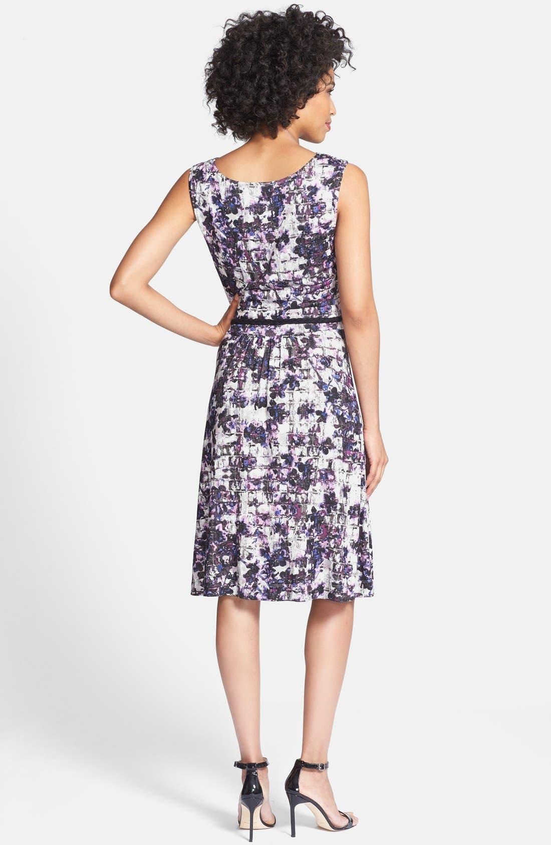 Alternate Image 2  - NIC+ZOE 'Fossilized Vines' Belted Jersey Dress