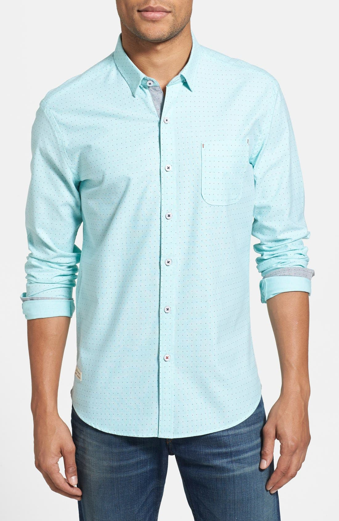 Main Image - 7 Diamonds 'Mint Condition' Dot Print Sport Shirt