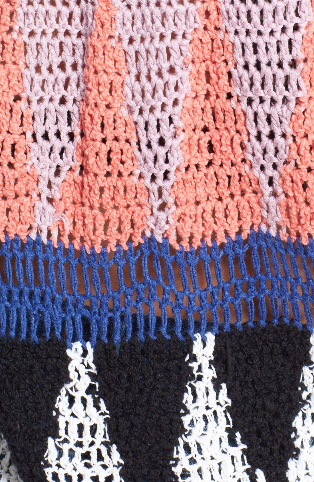 Alternate Image 3  - Free People 'Modern Art' Geometric Open Knit Pullover
