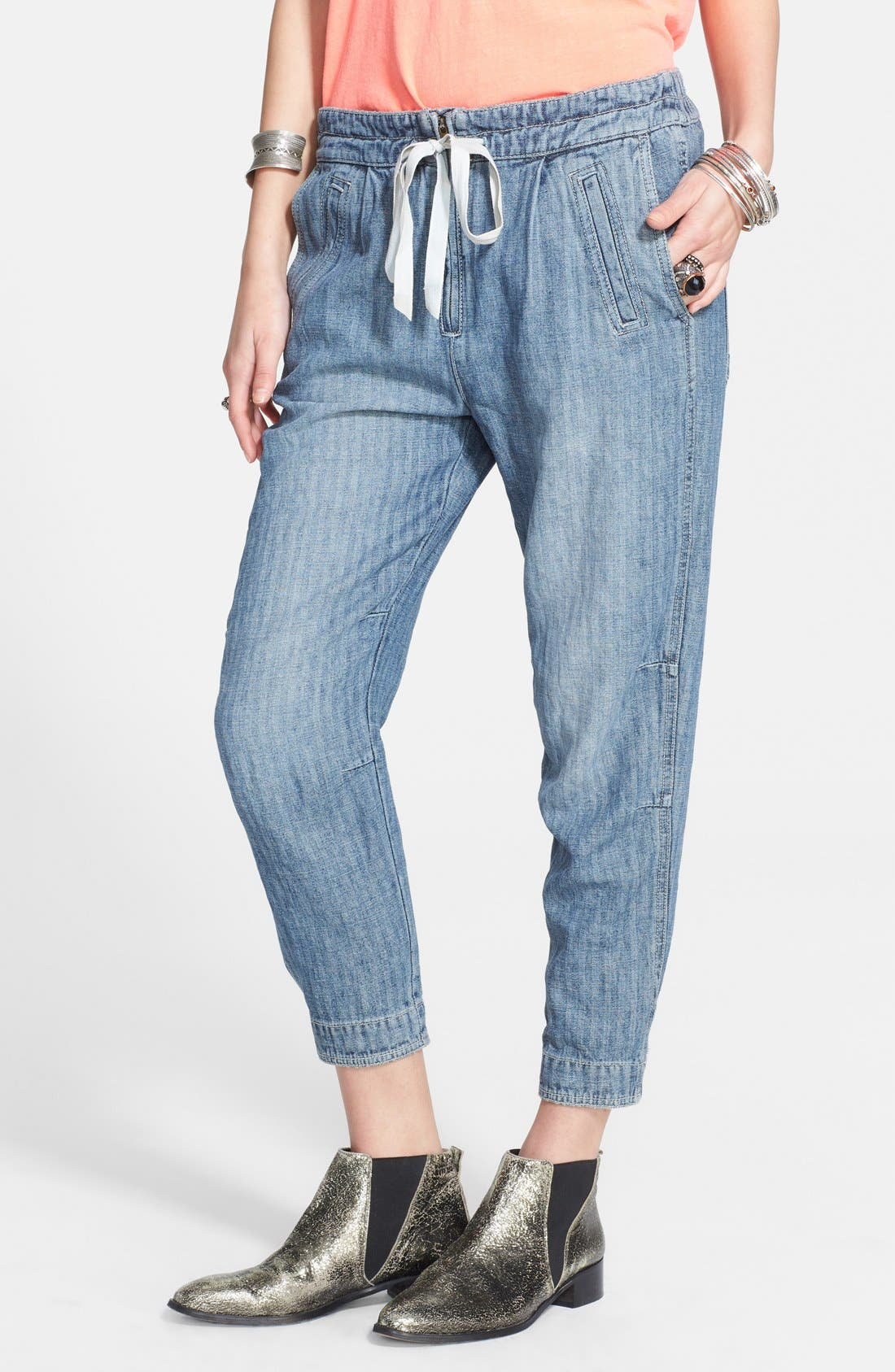 Alternate Image 1 Selected - Free People Linen Blend Harem Pants