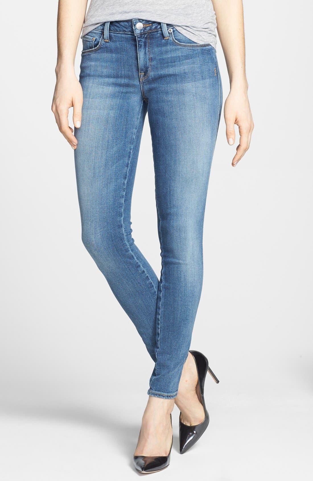 Alternate Image 1 Selected - Genetic 'Shya' Mid Rise Skinny Jeans (Polish)