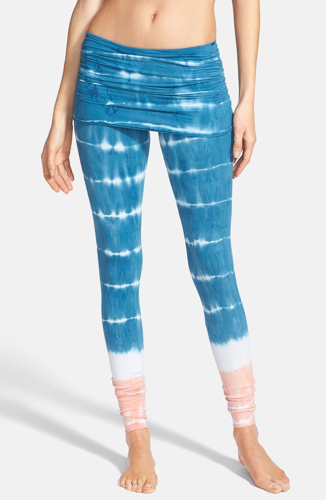 Alternate Image 1 Selected - Omgirl 'Bold Stripe Nomad' Organic Cotton Leggings