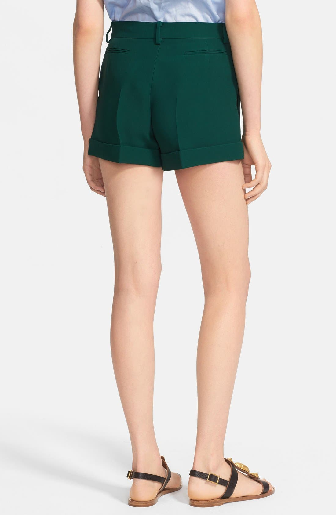 Alternate Image 2  - Valentino Silk Cady Shorts