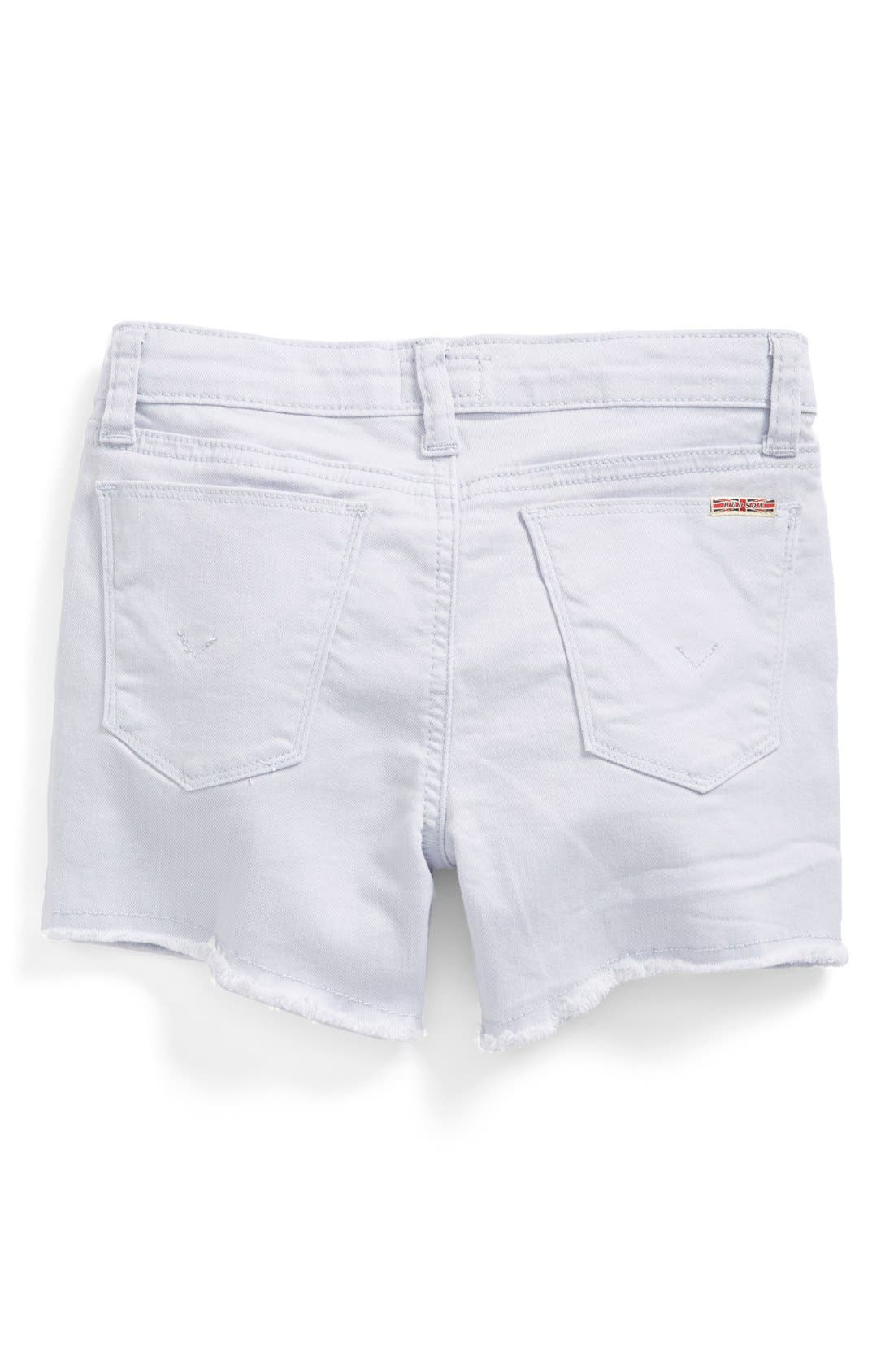 Alternate Image 1 Selected - Hudson Kids Raw Edge Jean Shorts (Big Girls)