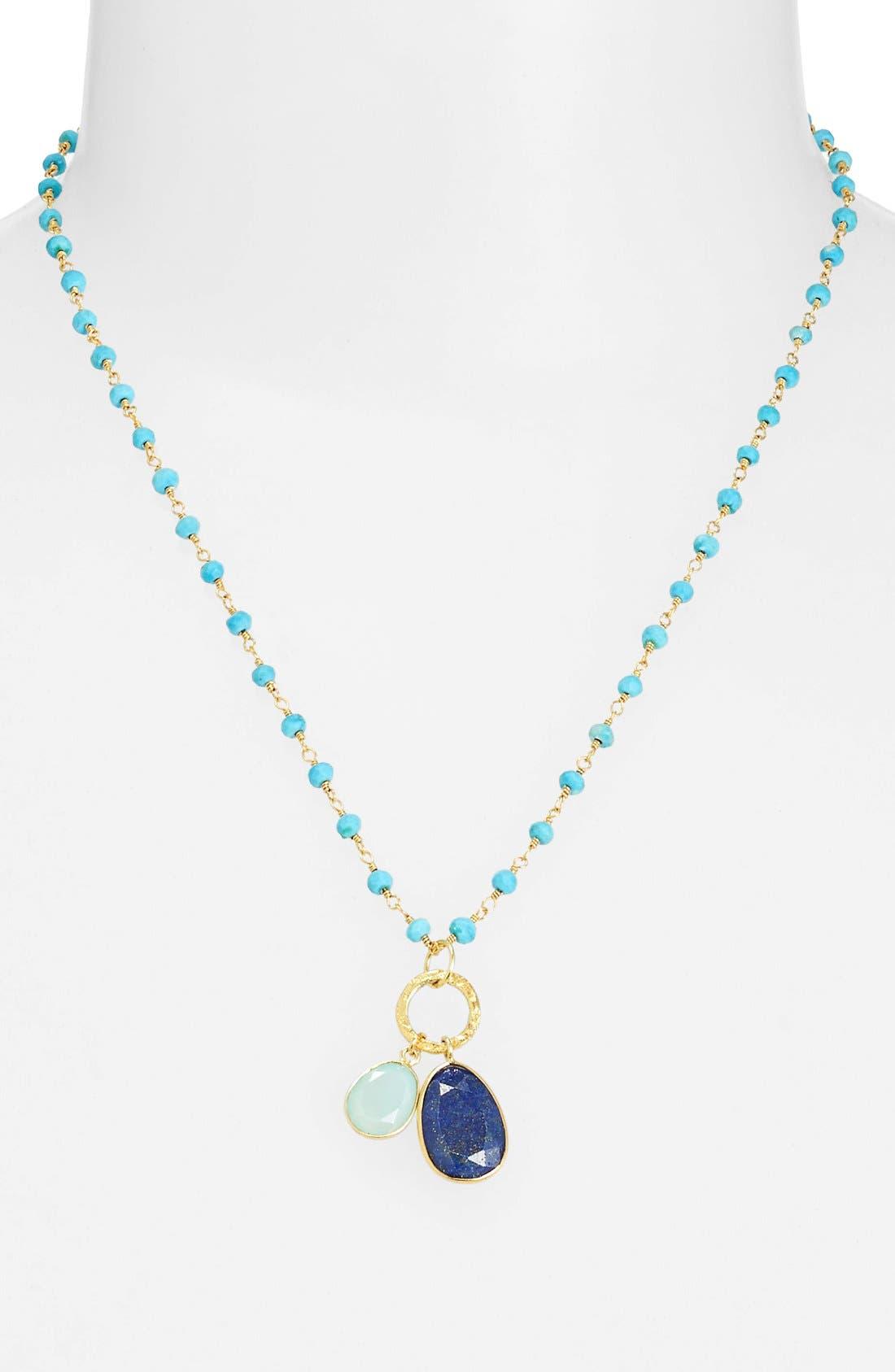Main Image - Argento Vivo 'Rondelle' Cluster Pendant Necklace