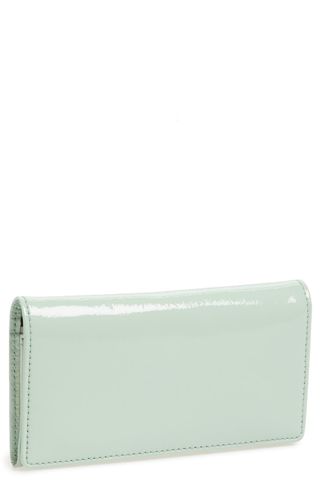 Main Image - Halogen® Crinkle Patent Leather Phone Wallet