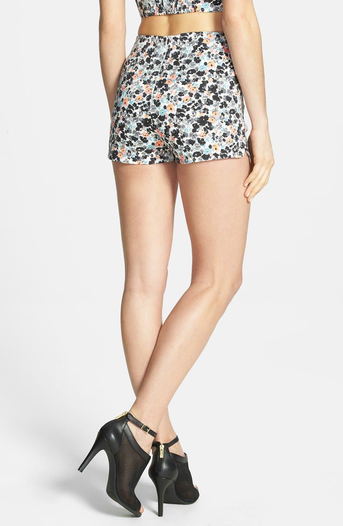 Alternate Image 2  - JOA Print High Rise Shorts