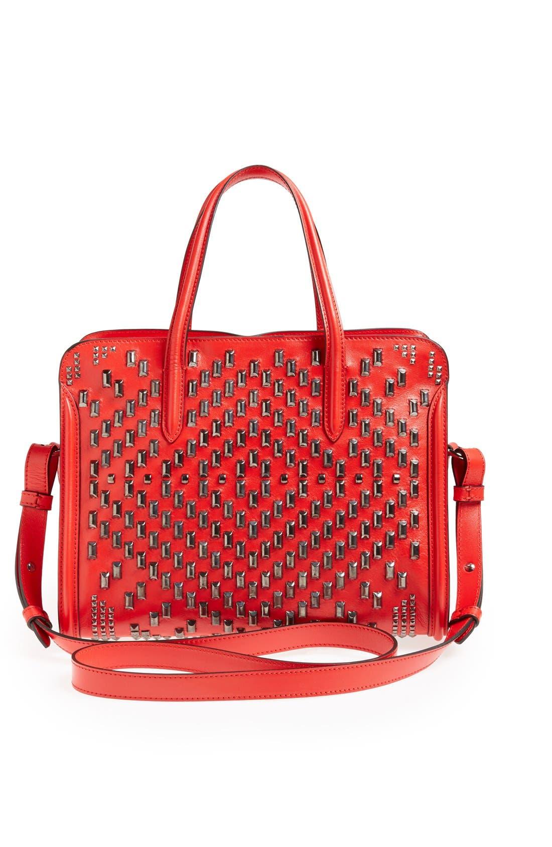 Alternate Image 4  - Alexander McQueen 'Small Padlock' Studded Duffel Bag