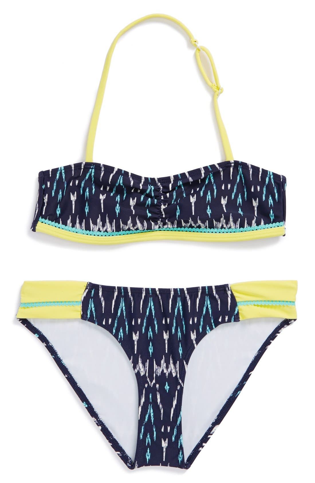 Alternate Image 1 Selected - Tucker + Tate 'Tropical' Two-Piece Swimsuit (Big Girls)