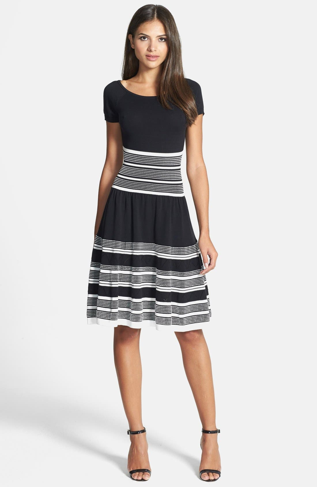 Main Image - kate spade new york cotton knit swing dress