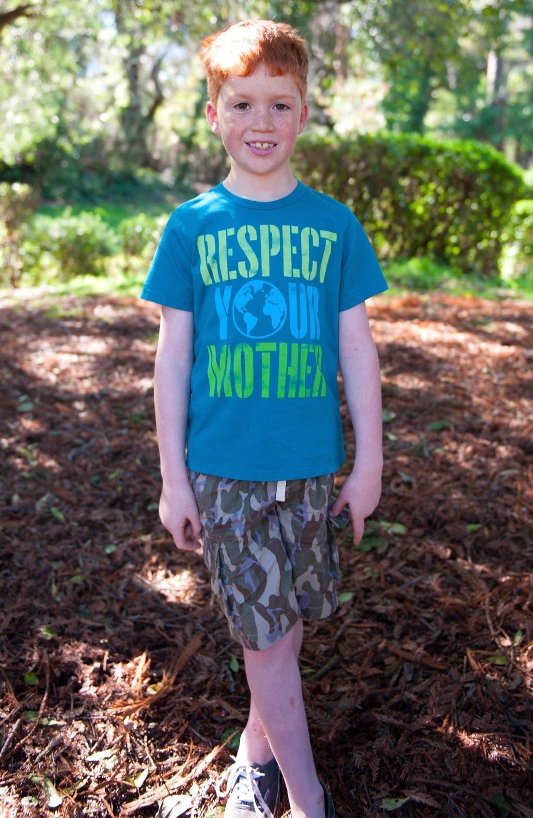 Alternate Image 2  - Peek T-Shirt & Cargo Shorts (Little Boys & Big Boys)