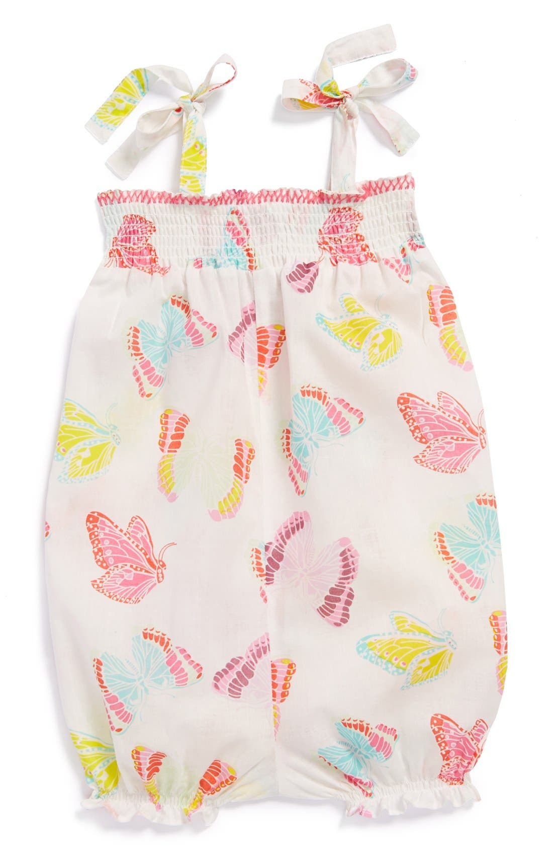 Alternate Image 1 Selected - egg by susan lazar Cotton Bubble Romper (Baby Girls)