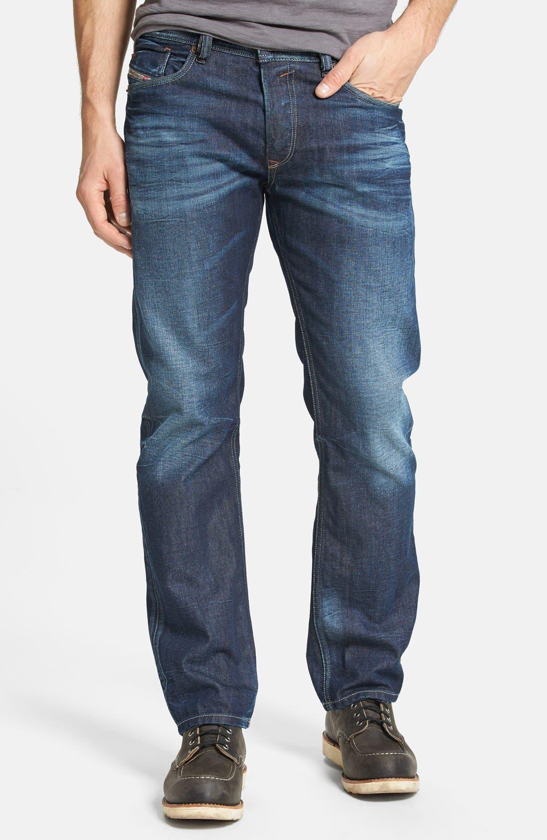 Alternate Image 1  - DIESEL® 'Waykee' Straight Leg Jeans (0806U)
