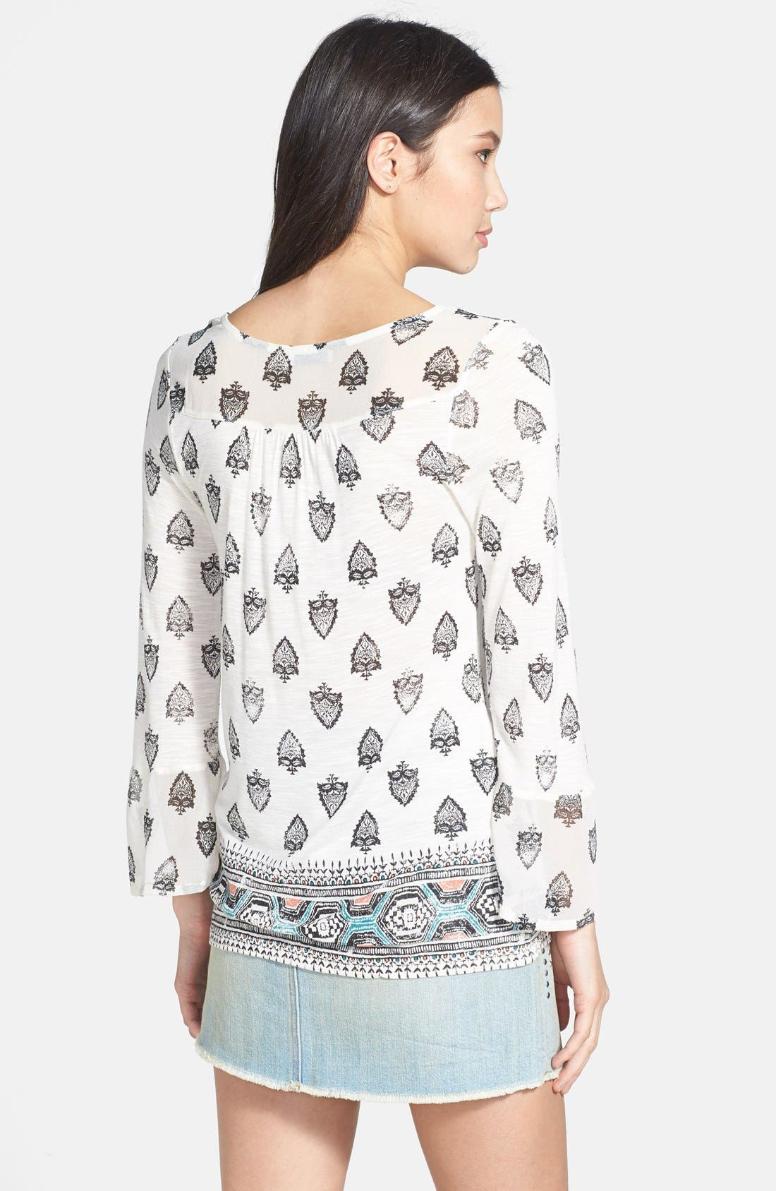 Alternate Image 2  - Lucky Brand Bell Sleeve Print Top
