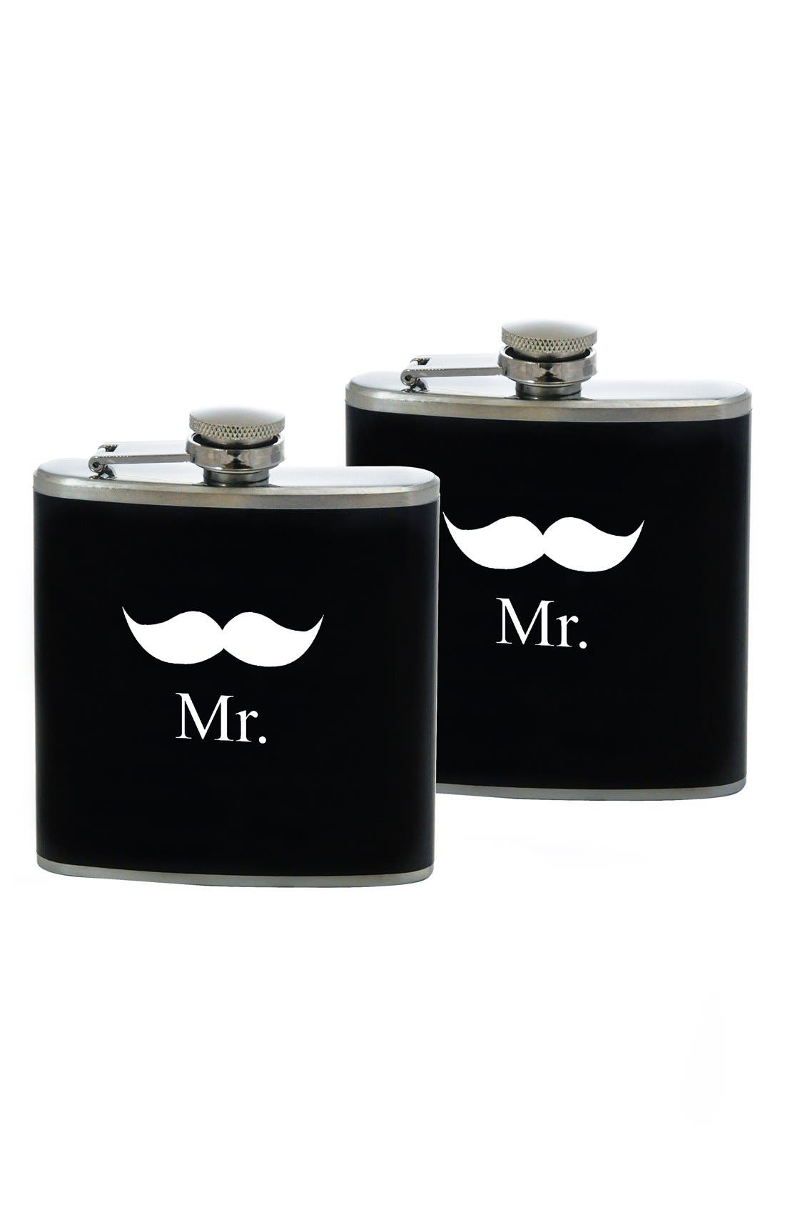 Alternate Image 1 Selected - Cathy's Concepts 'For the Couple' Stainless Steel Flask Set