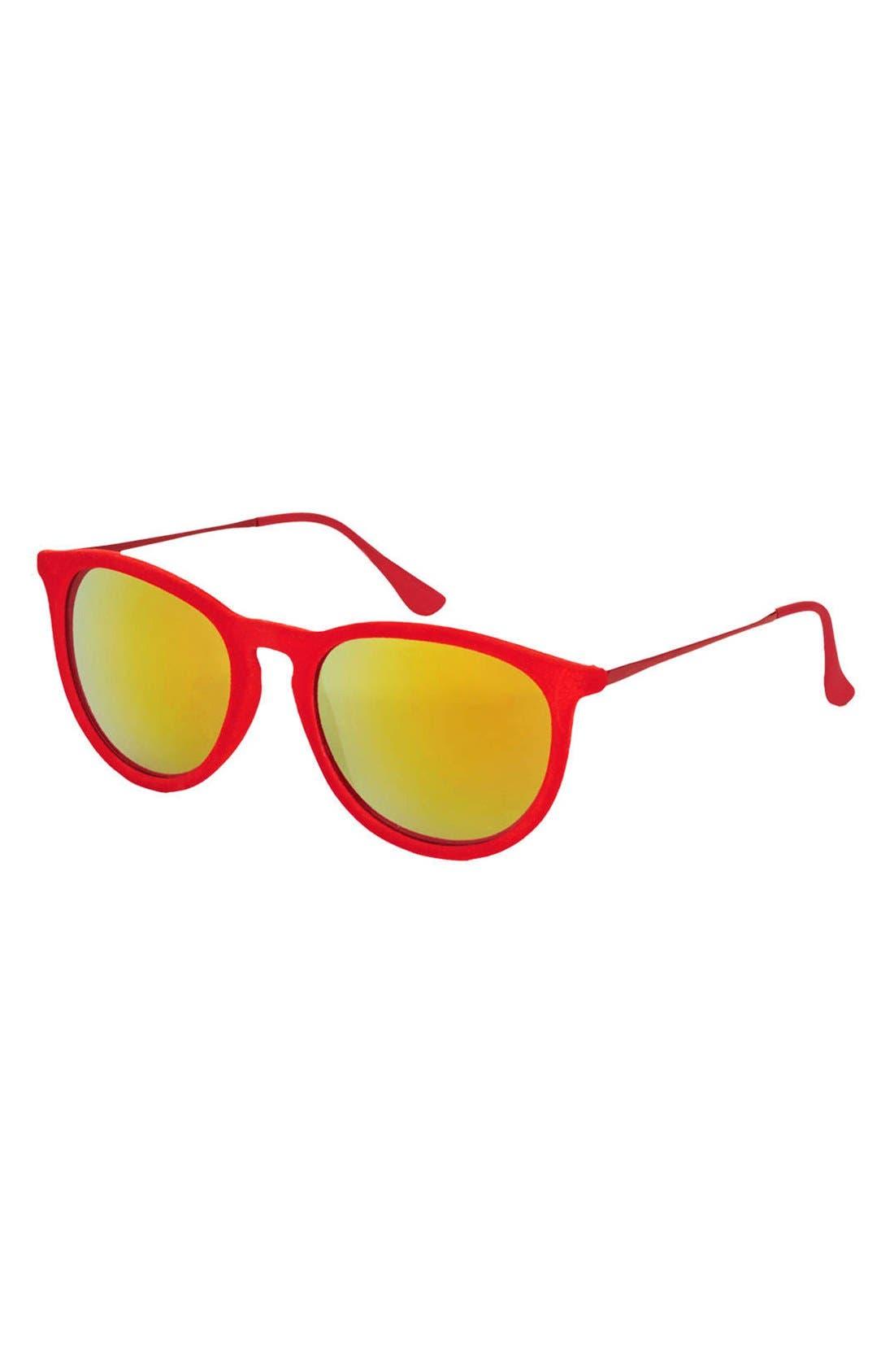 Alternate Image 1 Selected - Topshop 'Revo' 53mm Velour Sunglasses