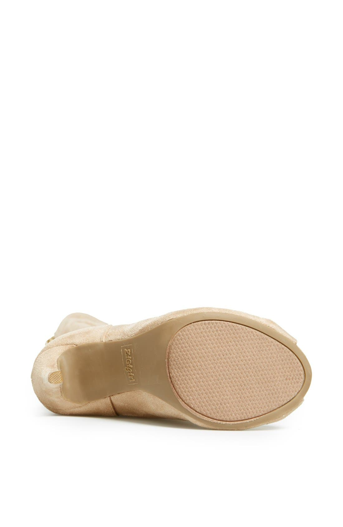 Alternate Image 4  - ZiGi girl 'Piarry' Lace-Up Thigh-High Boot (Narrow Calf)