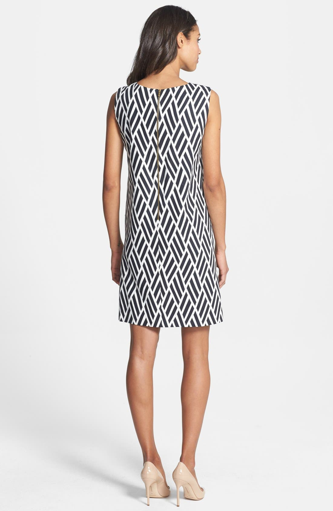 Alternate Image 2  - Tahari Jacquard Cotton Blend Shift Dress