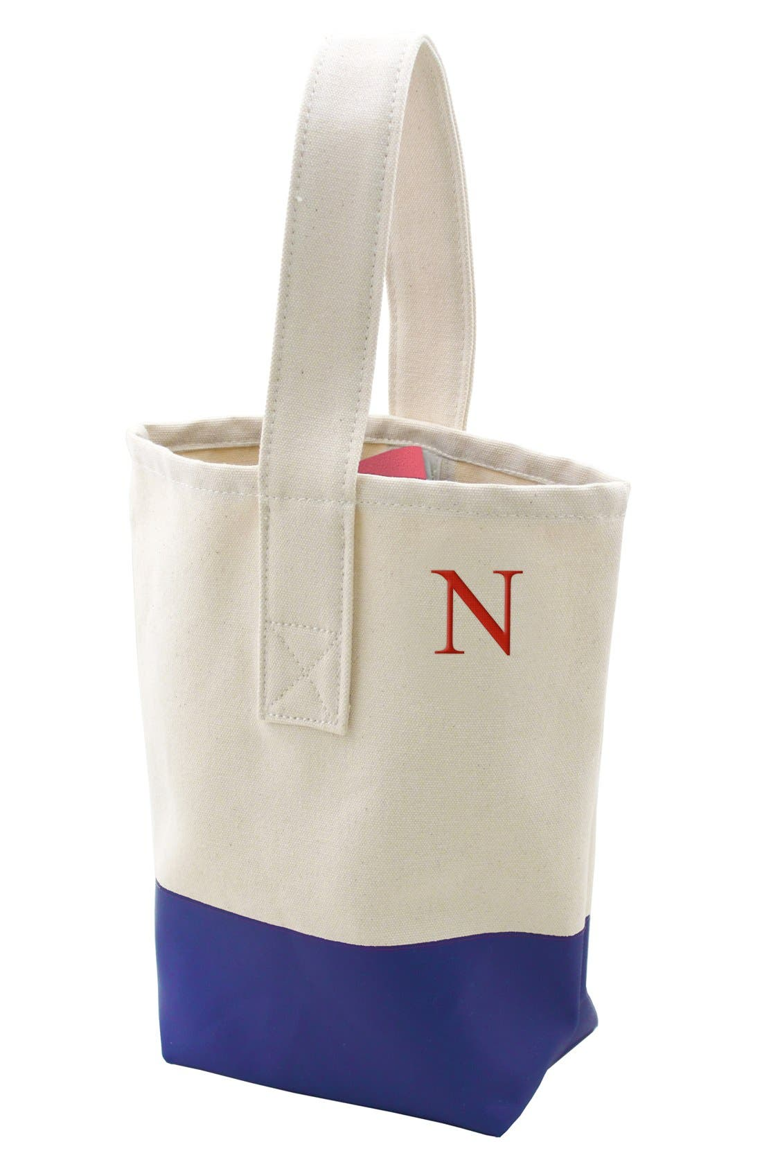 Main Image - Cathy's Concepts Personalized Color Dip Wine Tote