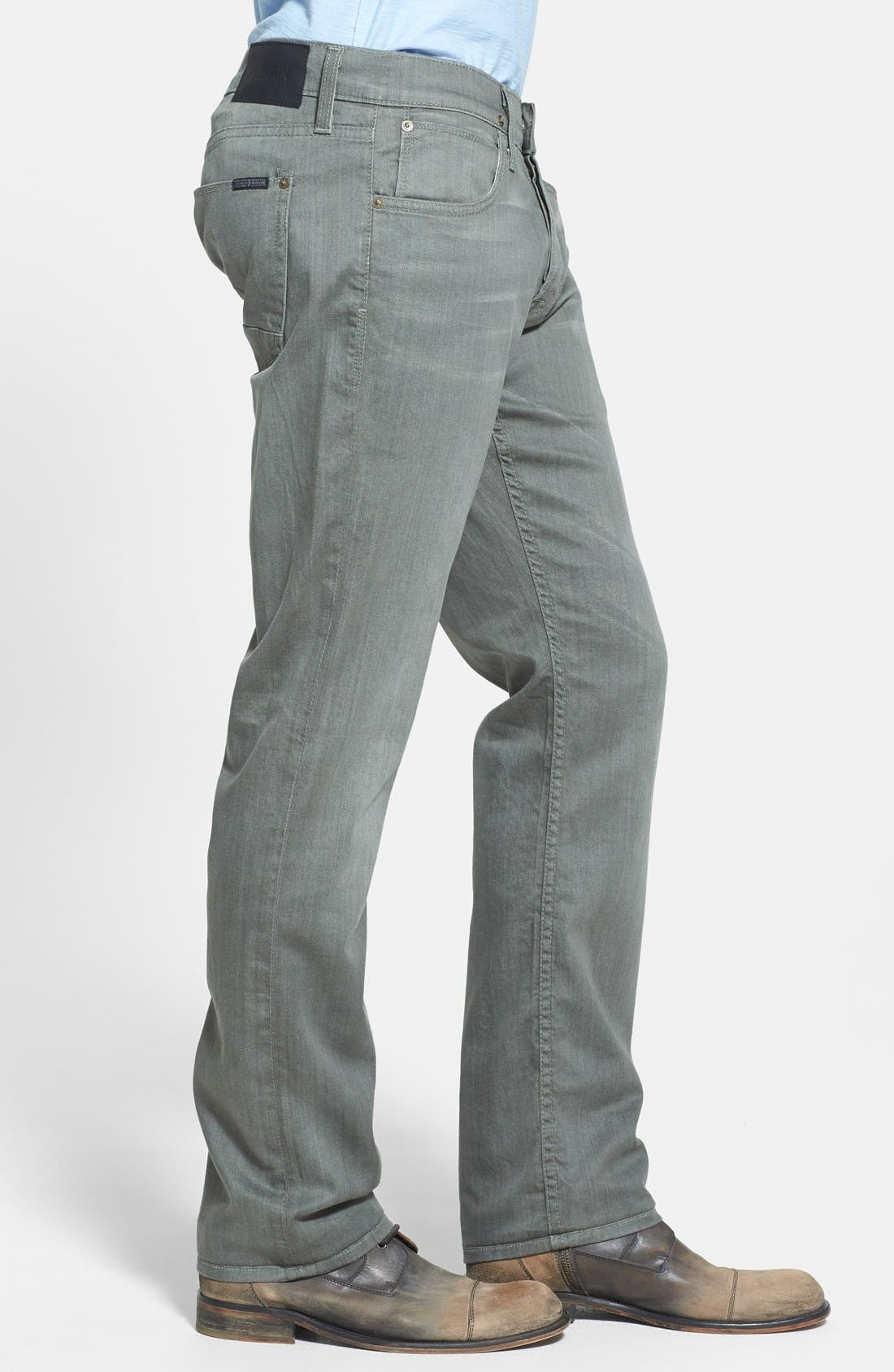 Alternate Image 3  - Hudson Jeans 'Byron' Straight Leg Jeans (Olive Vintage)