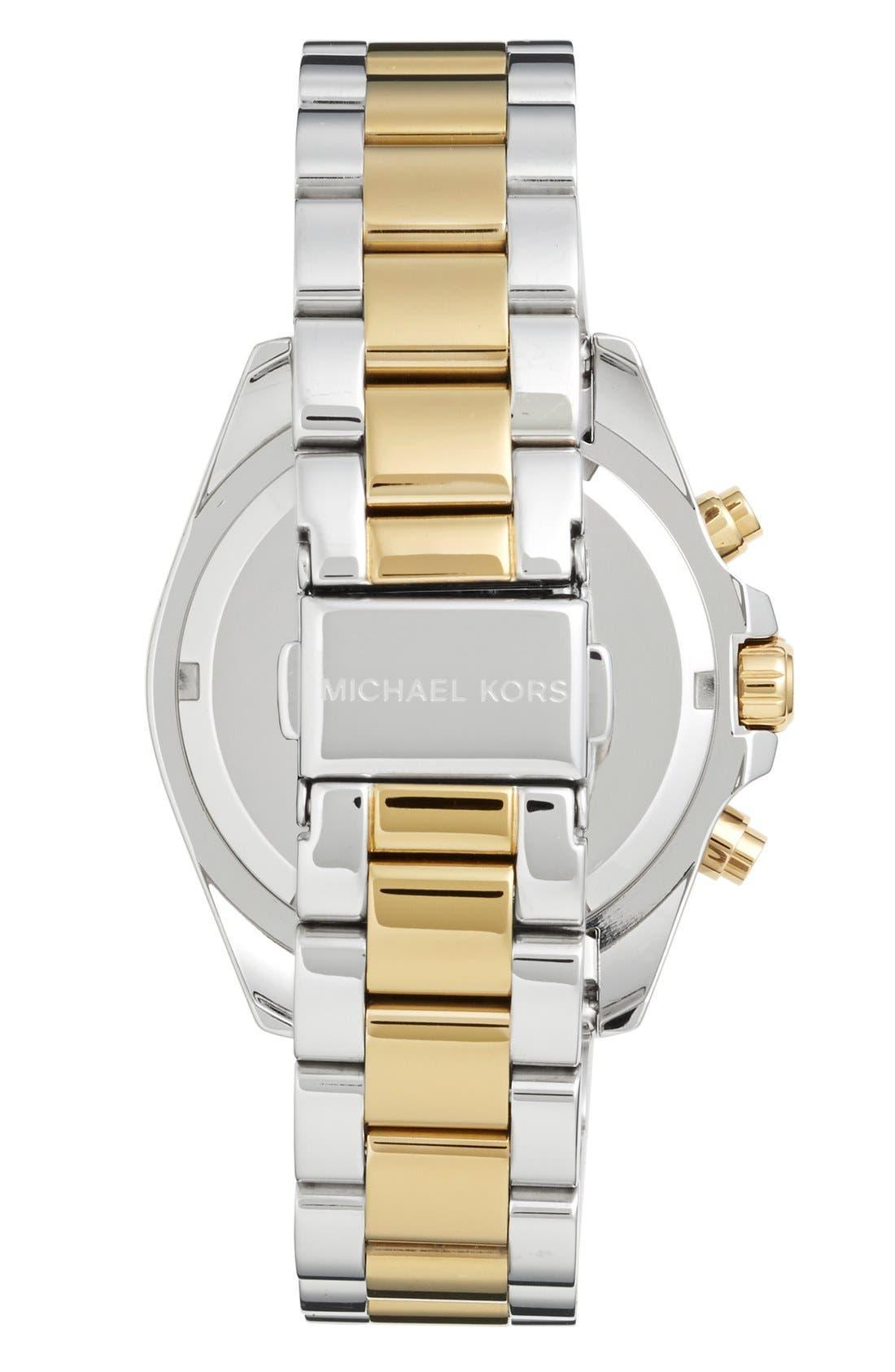Alternate Image 2  - Michael Kors 'Bradshaw - Mini' Chronograph Bracelet Watch, 36mm