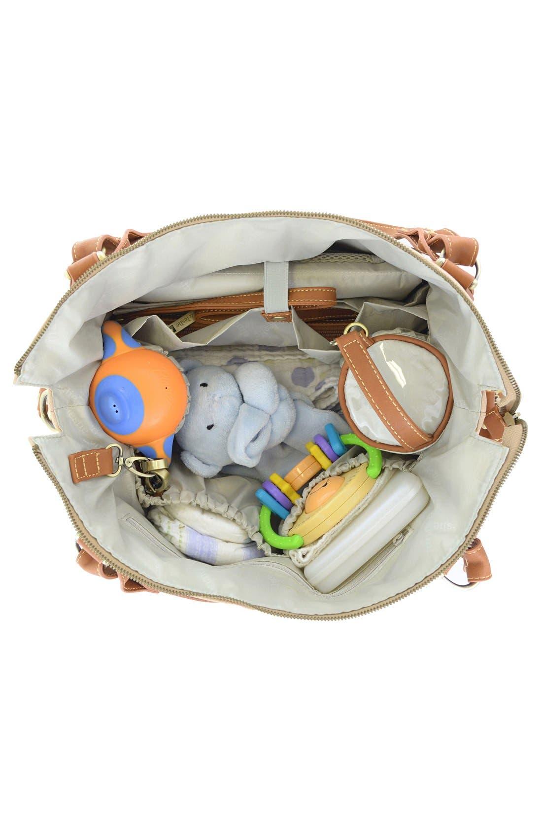 Alternate Image 2  - Timi & Leslie 'Kate' Faux Leather Diaper Bag