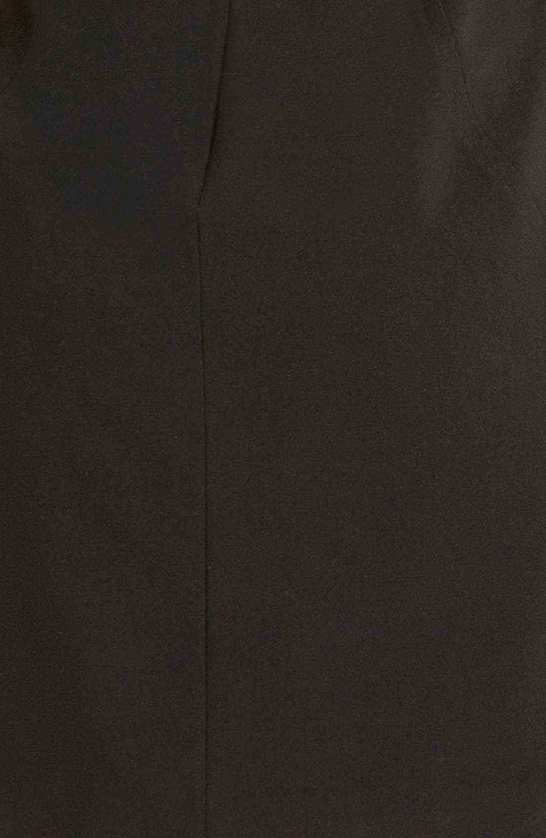 Alternate Image 4  - Tahari Elbow Sleeve Front Zip Sheath Dress