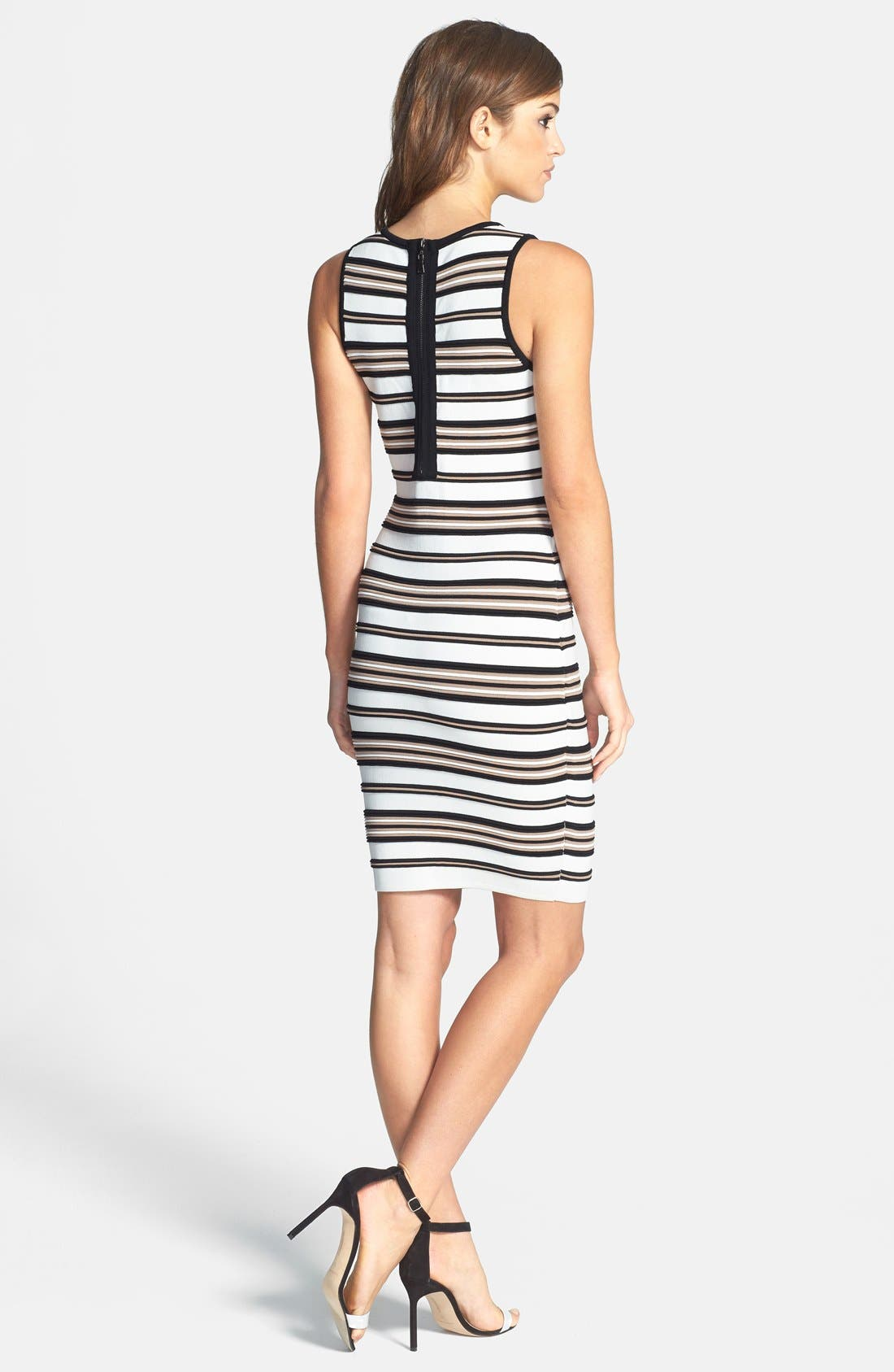 Alternate Image 2  - Felicity & Coco Stripe Rib Knit Body-Con Dress (Nordstrom Exclusive)