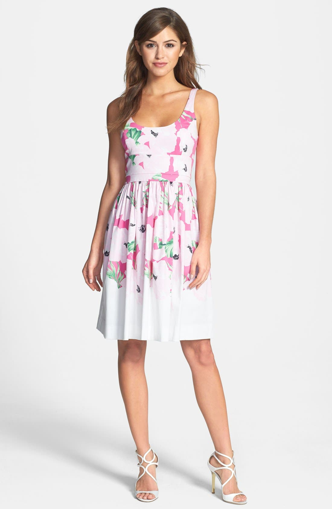 Alternate Image 3  - French Connection 'Holiday' Print Stretch Cotton Fit & Flare Dress