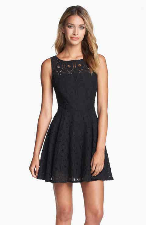BB Dakota 'Renley' Lace Fit   Flare Dress (Nordstrom Exclusive)