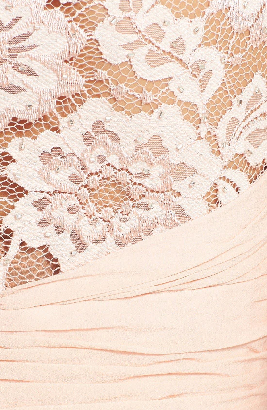Alternate Image 3  - Aidan Mattox Embellished Lace & Silk Chiffon Gown (Online Only)