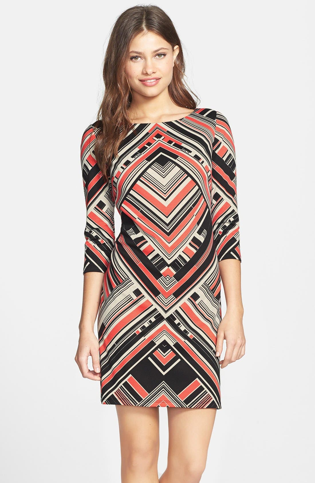 Alternate Image 1 Selected - Vince Camuto Print Ponte Shift Dress