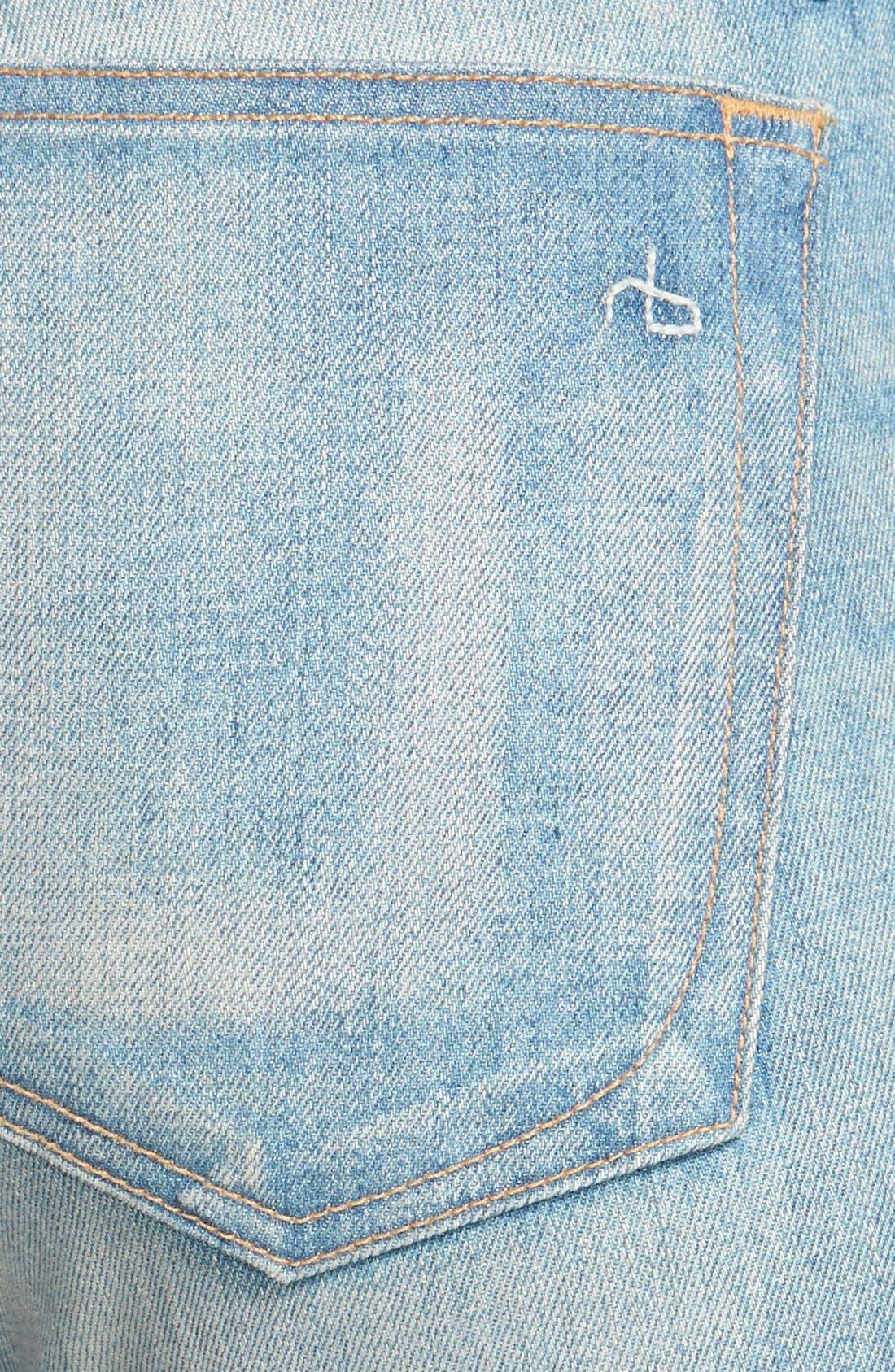 Alternate Image 3  - rag & bone/JEAN 'The Dre' Slim Fit Boyfriend Jeans (Greencast)