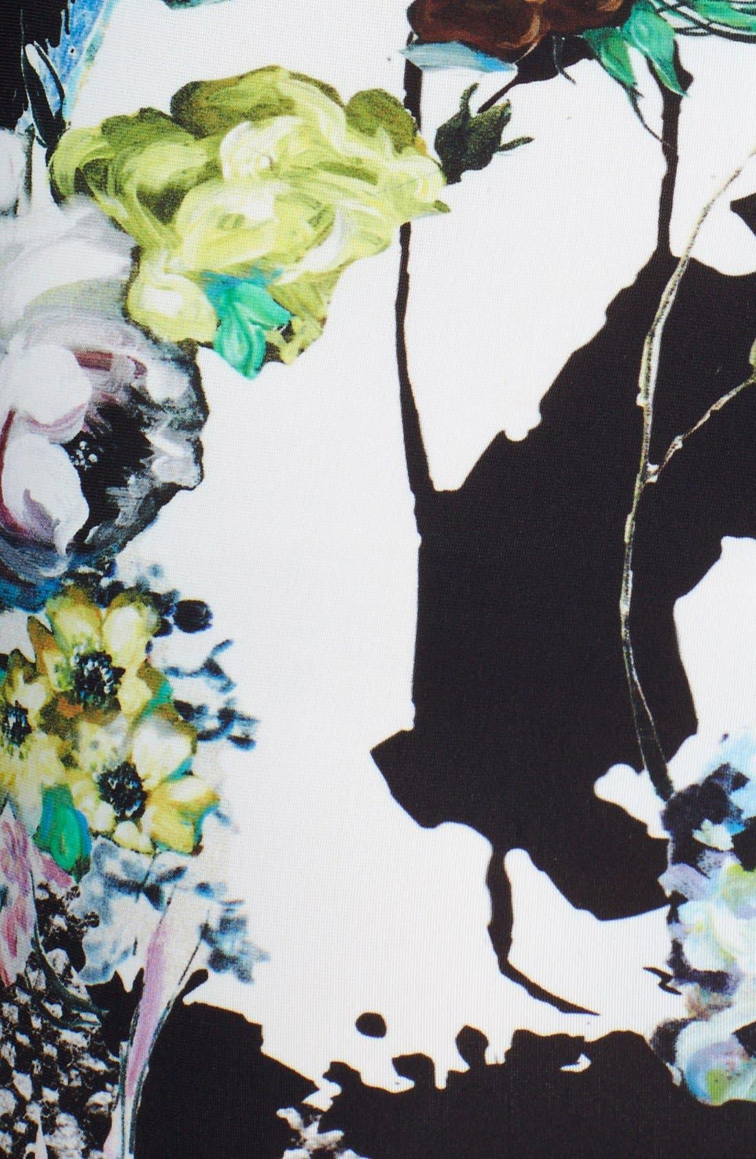 Alternate Image 3  - Roberto Cavalli Slit Neck Print Dress