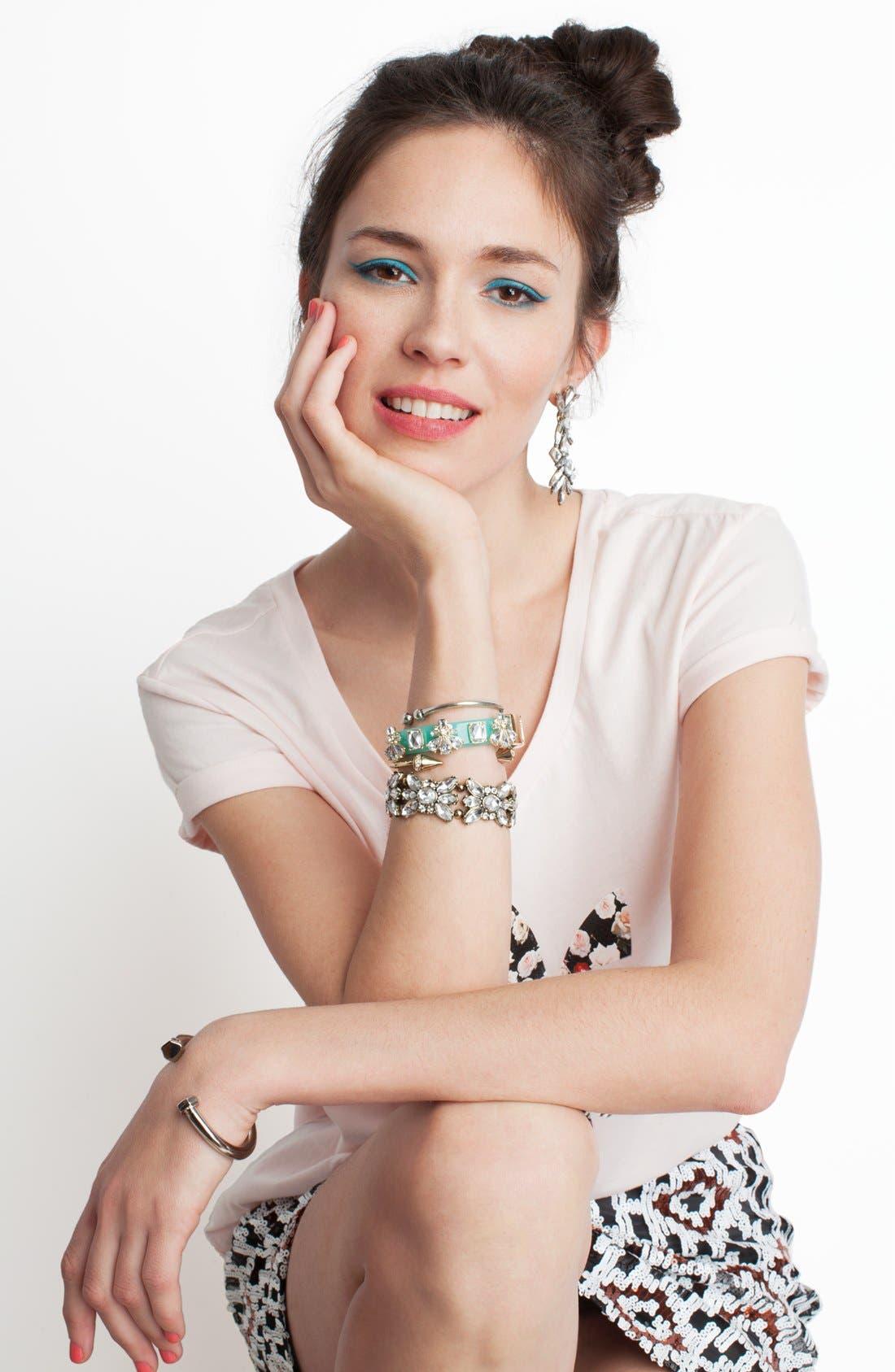 Alternate Image 3  - BaubleBar Crystal Stretch Bracelet