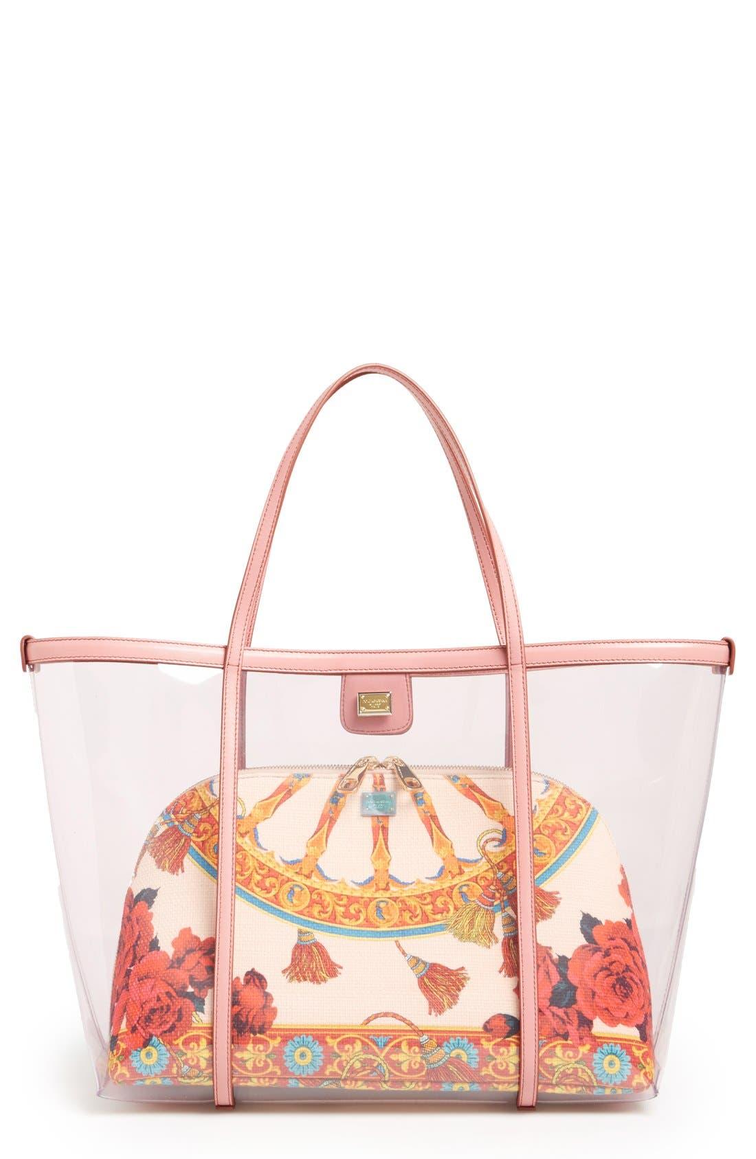 Main Image - Dolce&Gabbana 'Miss Escape' Clear Tote