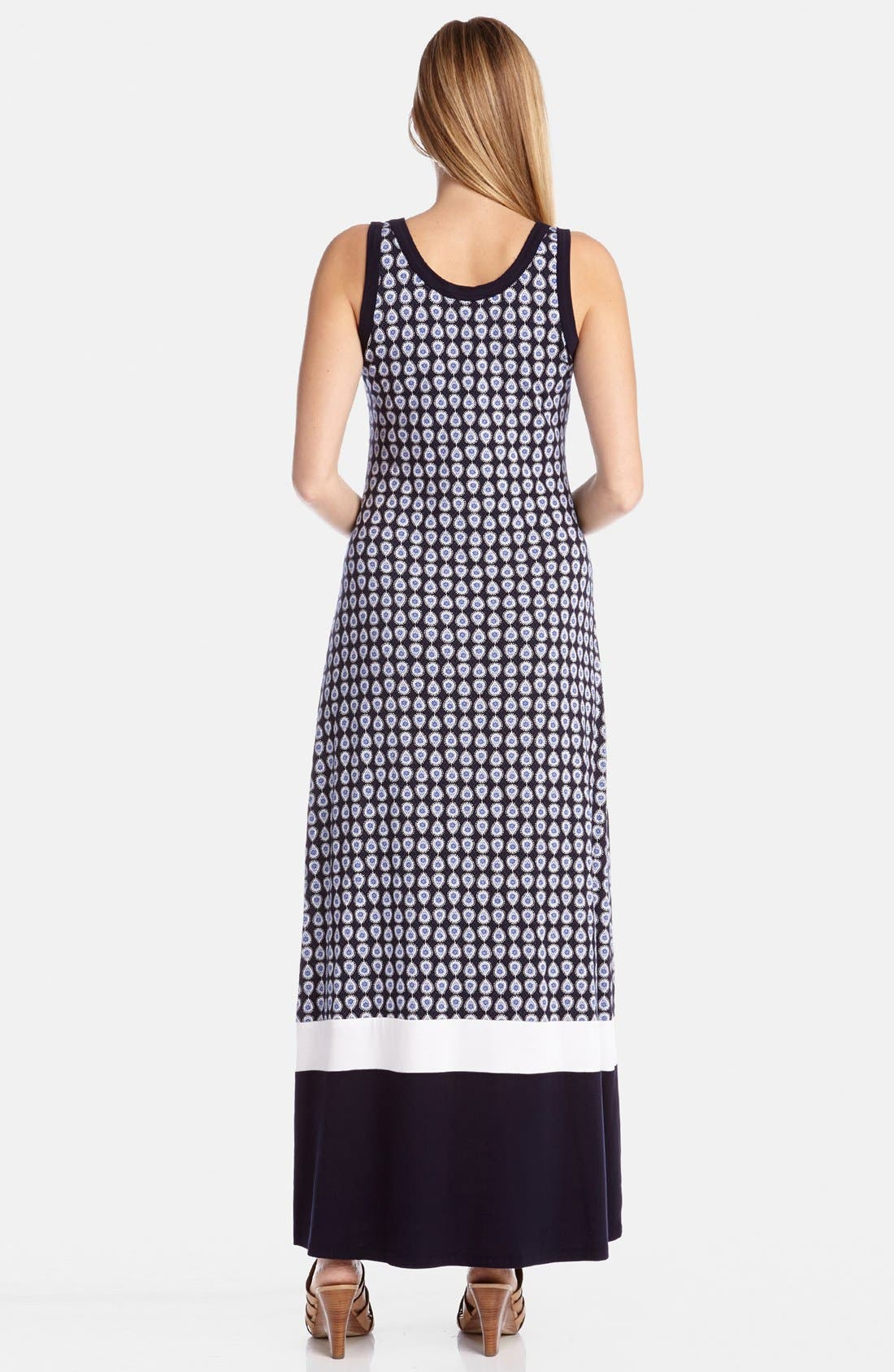 Alternate Image 2  - Karen Kane Contrast Hem Maxi Tank Dress