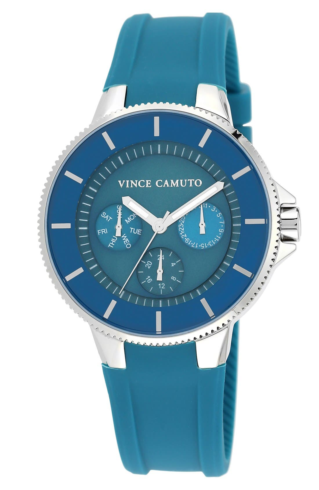 Main Image - Vince Camuto Multifunction Silicone Strap Watch, 41mm