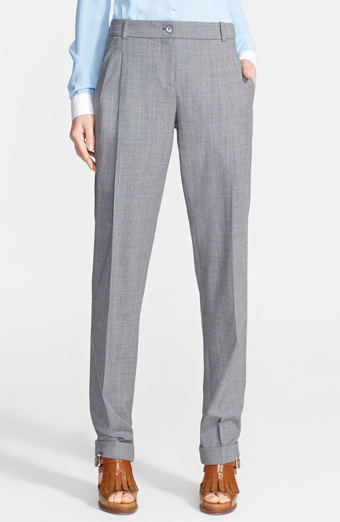 Alternate Image 1 Selected - Michael Kors Pleated Stretch Wool Trousers