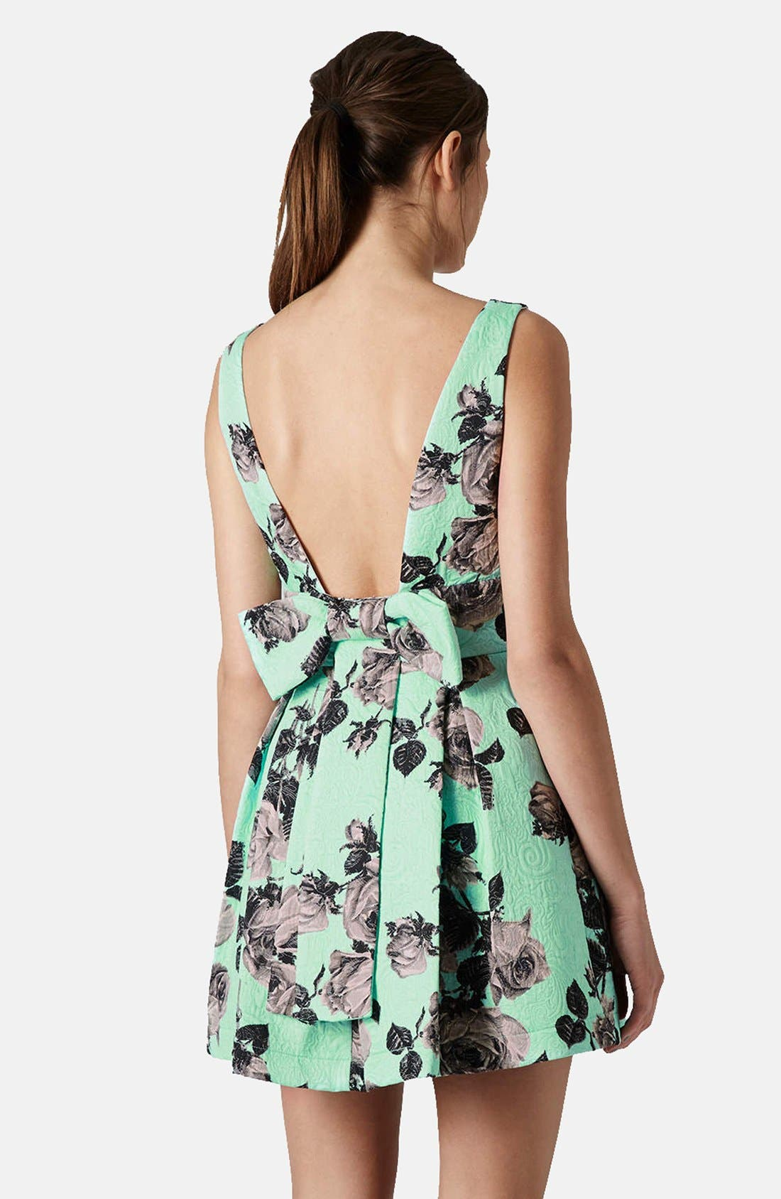 Alternate Image 2  - Topshop Floral Print Fit & Flare Dress