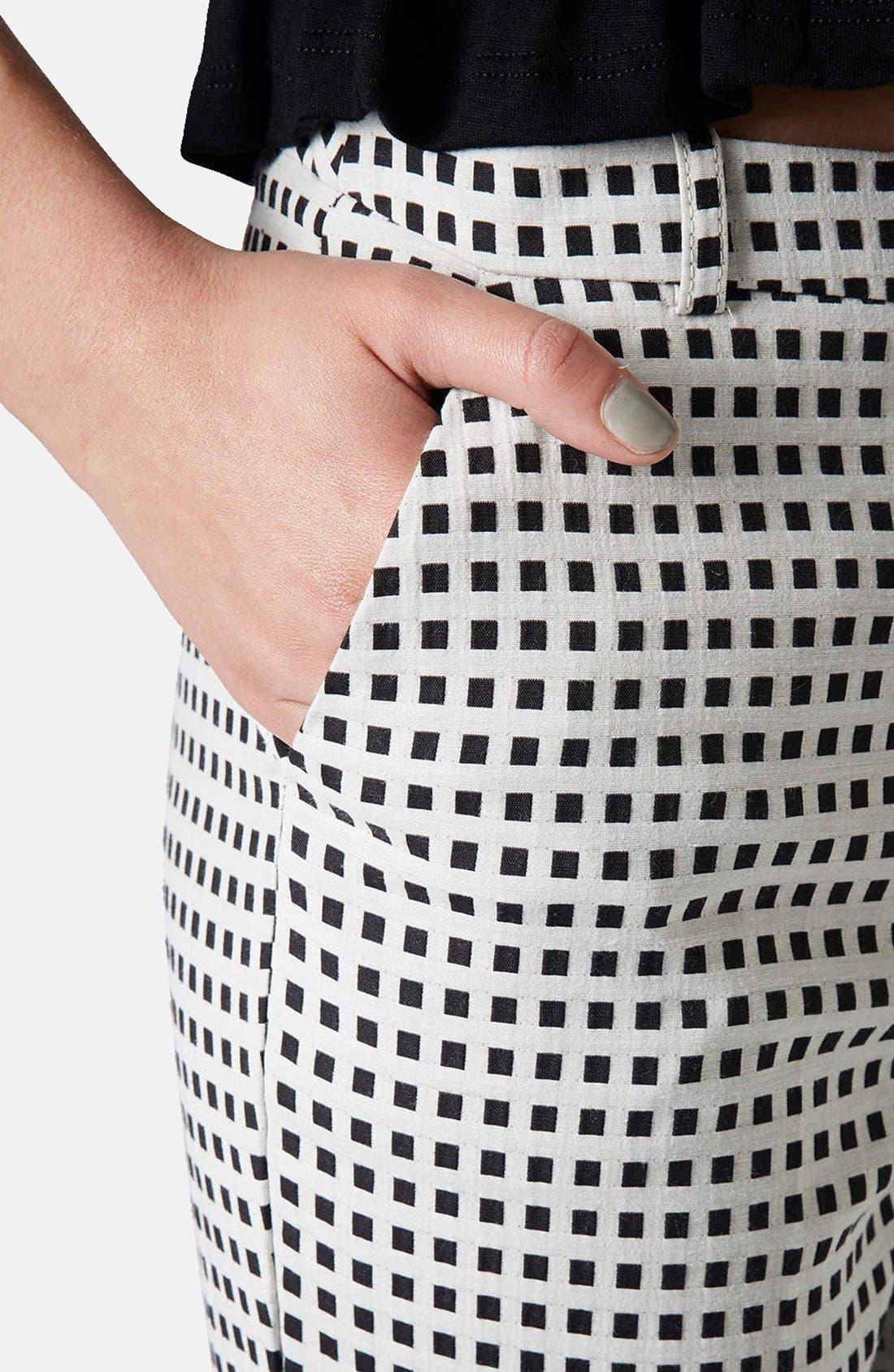 Alternate Image 4  - Topshop Gingham Cigarette Pants