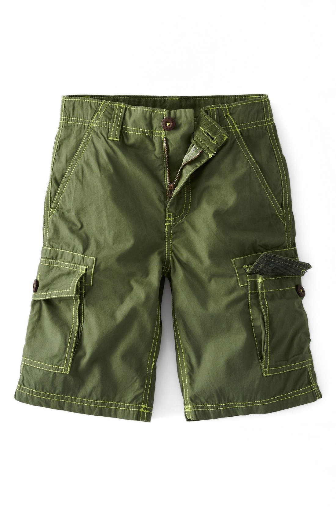 Alternate Image 1 Selected - Mini Boden 'Summer' Cargo Shorts (Toddlers, Little Boys & Big Boys)