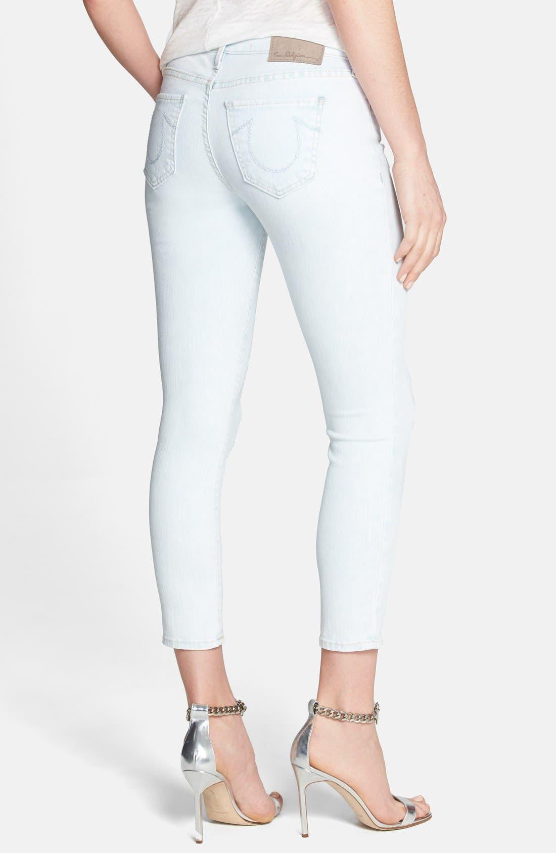 Alternate Image 2  - True Religion Brand Jeans Crop Skinny Jeans (Soul Eyes)
