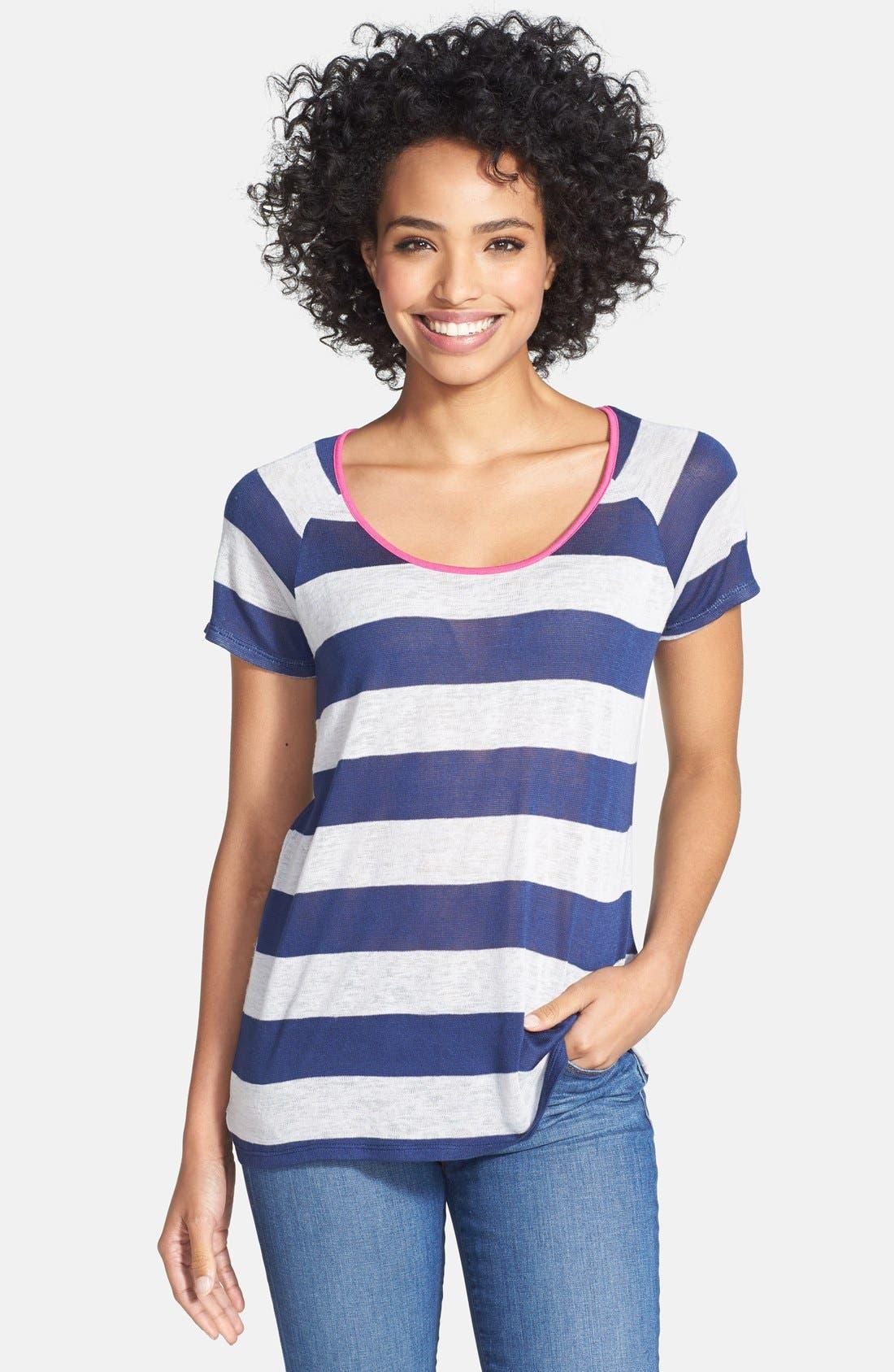 Alternate Image 1 Selected - Olivia Moon Stripe Tee (Regular & Petite)