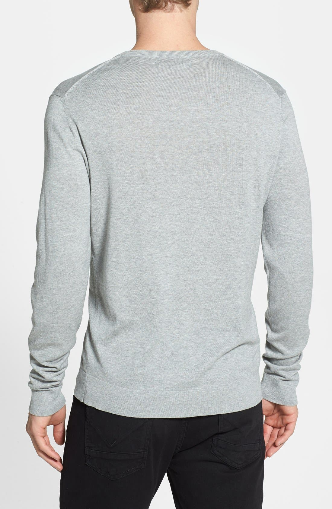Alternate Image 2  - Kenneth Cole Collection Silk & Cotton V-Neck Sweater