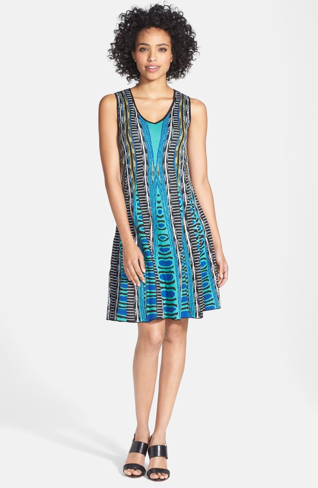 Alternate Image 1 Selected - NIC+ZOE 'Urban Twirl' V-Neck Dress (Regular & Petite)