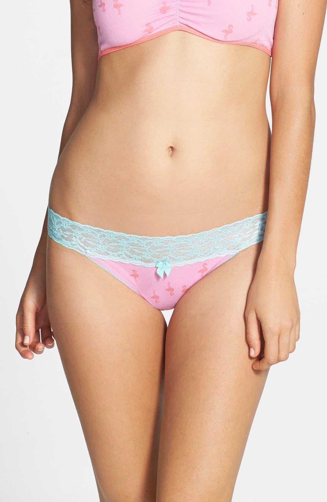 Main Image - BP. Undercover Lace Waist Bikini (Juniors)