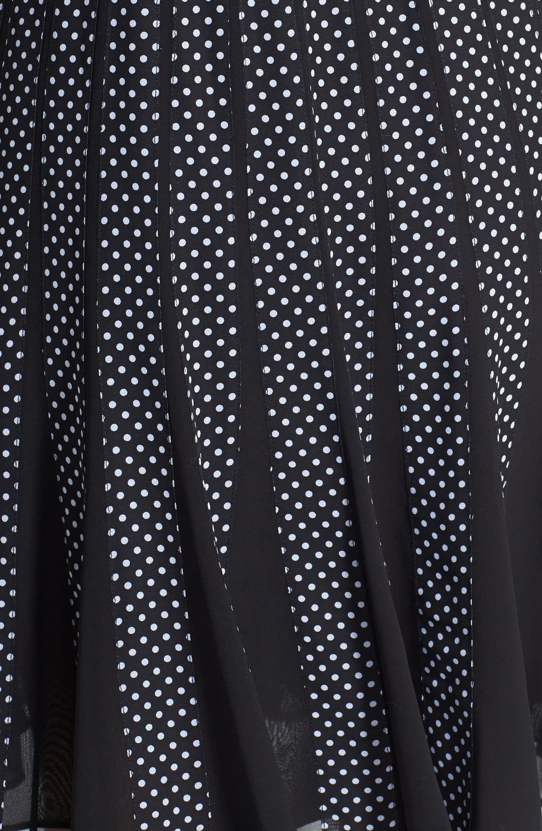 Alternate Image 4  - Adrianna Papell Polka Dot Chiffon Fit & Flare Dress